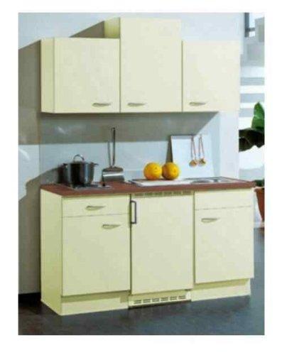 Single küche küchenzeile vera mit elektrogeräten 150 cm vanille