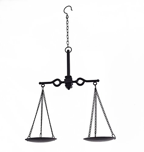 Hanging Black Metal Balancing Scale Decoration (Old Kitchen Scale compare prices)