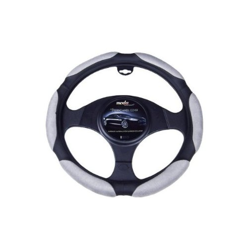 Moda Motorsports 9050 Grey/Black Small Ergo Supreme Leatherette Steering Wheel Cover