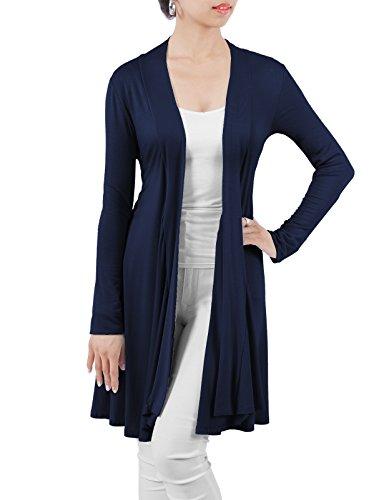 H2H Womens Open Front Draped Basic Designed Lightweight Plus Size Cardigan DARKNAVY US 2XL/Asia 2XL (Plus Size Online)
