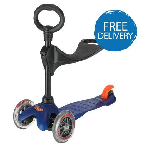 MINI MICRO SCOOTER WITH SEAT BLUE