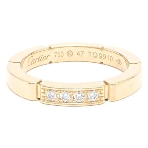 [カルティエ] Cartier マイヨンパンテール ドゥ カルティエ ウェディング リング 4Pダイヤ #47 K18YG B4080347 [中古]
