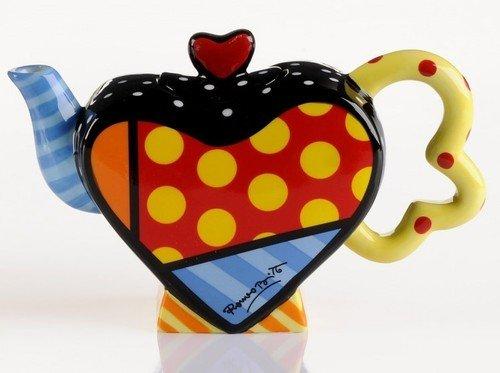 Romero Britto - Mini Teapot Heart (Britto Teapot compare prices)