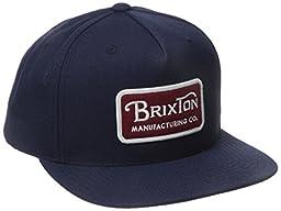 Brixton Men\'s Grade Snapback, Navy, One Size