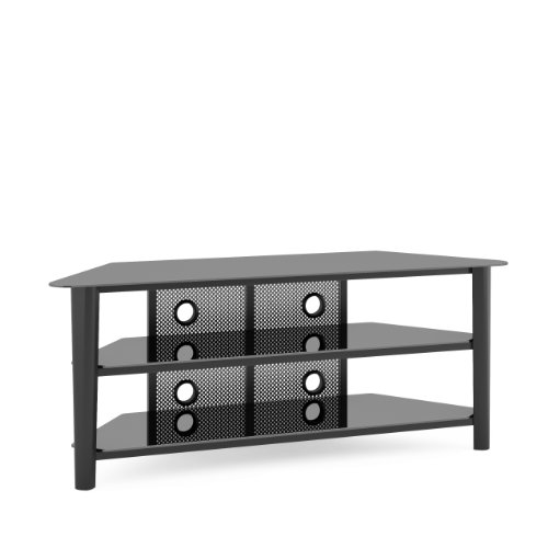 CorLiving TAL-604-T Alturas Veneer TV Stand, 60-Inch, Black Stained Wood (Upright Tv Stand compare prices)