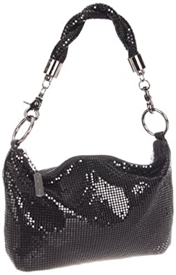 Whiting & Davis Mini Twisted 1-8862BK Hobo,Black,One Size