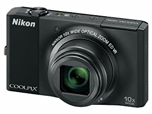 Nikon COOLPIX S8000 Compact Digital Camera - Black (14.2MP, 10x Optical Zoom) 3 inch LCD