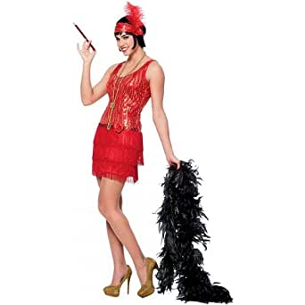 Women's Plus-Size Red Broadway Flapper Costume