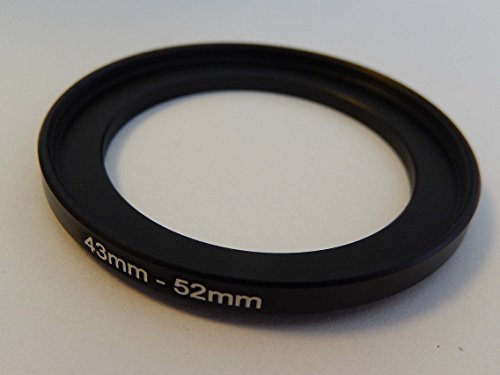 vhbw Step UP Filter-Adapter 43mm-52mm schwarz für Kamera Panasonic, Pentax, Ricoh, Samsung, Sigma, Sony, Tamron