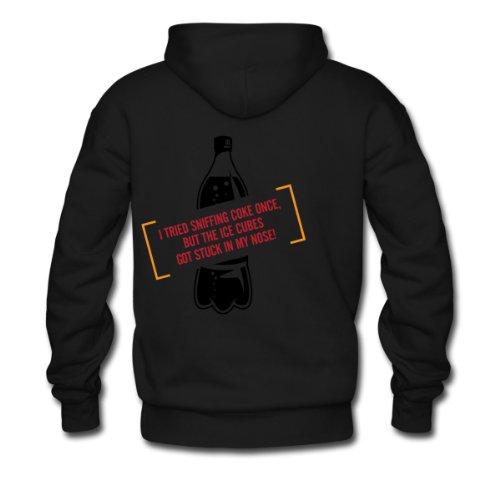 Spreadshirt, Sniffing Coke 4 (dd)++, Men's Hoodie, black, S