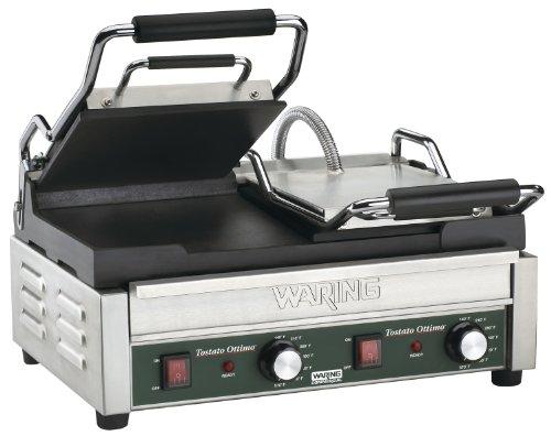Waring Commercial Wfg300 Panini Tostato Ottimo Dual Italian-Style Panini Grills, 240-Volt