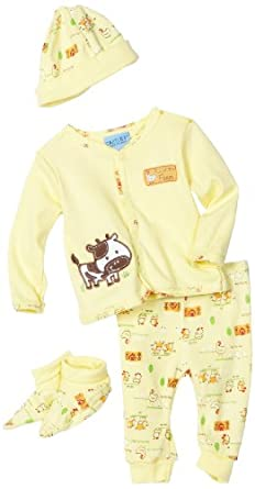 Amazon com carters baby boys newborn farm animals four piece dress set yellow 6 9 months