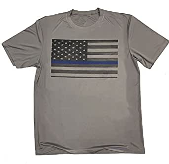 thin blue line american flag athletic shirt