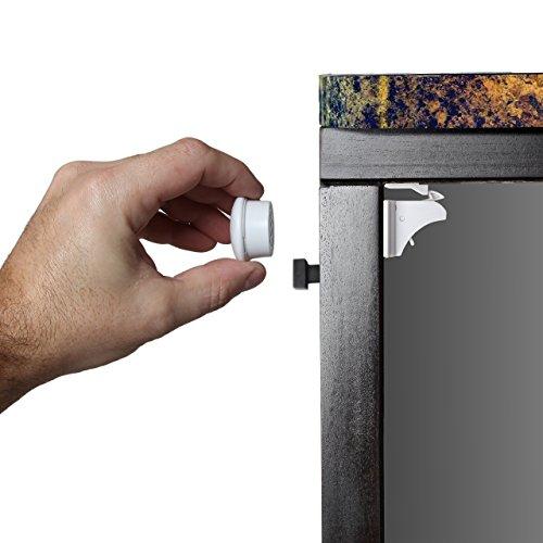 Safety Baby Magnetic Cabinet Locks - No Tools Or Screws Needed, 4 Locks + 1 Key