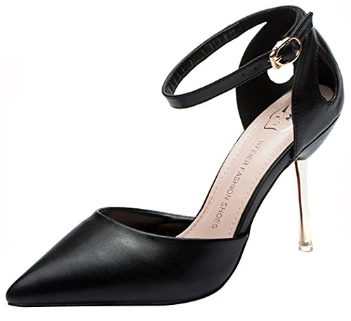 wangfeier-womens-spring-summer-buckle-breathable-thin-high-heel-fashionable-pointed-court-shoes-size