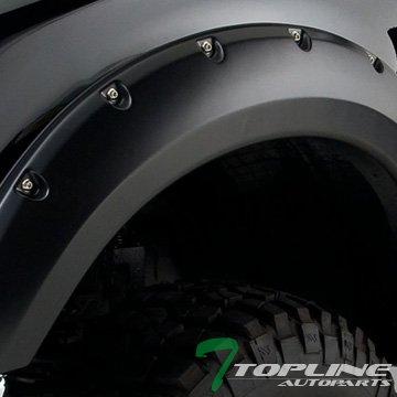 Topline Autopart Matte Black Pocket Rivet Fender Flares Wheel Cover Jr 04-08 Ford F150/06+ Mark Lt (Ford F150 Fender Emblem compare prices)