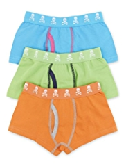 3 Pack Cotton Rich Fluro Trunks
