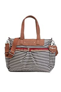 Babymel Cara Stripe Tote Bag, Navy Blue by Babymel from Babymel