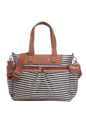 Babymel Cara Stripe Tote Bag, Navy Blue by Babymel (English Manual)