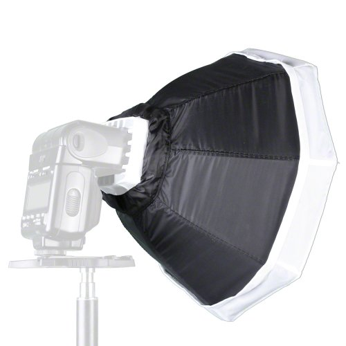 Walimex Octagon Softbox Paraluce per Compact Flashes, 30 cm