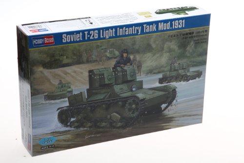Hobby Boss Soviet T-26 Light Infantry Tank Model 1931 Vehicle Model Building Kit