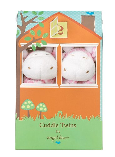 Angel Dear Cuddle Twin Set, Pink Giraffe