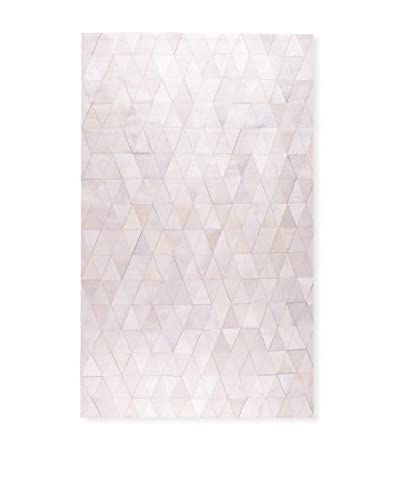 Natural Stitch Hide, Mosaik Off White, 8' x 10'
