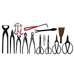 14-pc Bonsai Tool Set Carbon Steel