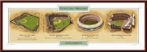 Buy Evolution of the Cincinnati Reds Great American Ballpark by MyTeamPrints LLC