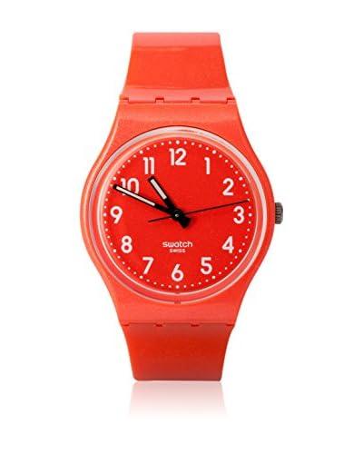 Swatch Reloj de cuarzo Unisex FLAKY ORANGE GO109 34 mm