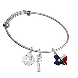 ... Texas Hummingbird Disc Mom Expandable Bangle Bracelet: Delight