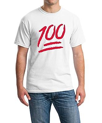 icustomworld 100 Emoji Red Logo T-shirt Funny Cool Gift Shirts