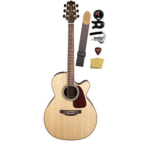 Takamine Gn93Ce-Nat Nex Cutaway Acoustic-Electric Guitar Bundle, Natural
