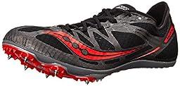Saucony Men\'s Ballista Track Spike Racing Shoe, Black/Red, 10.5 M US