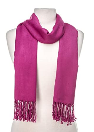Noble Mount Solid Plain Pashmina with a Complimentary Gift - Grape