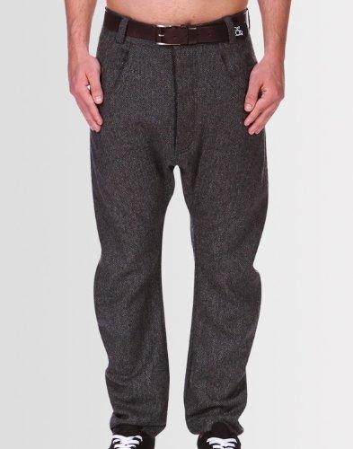 Kear and Ku Mens Tailored Bow Trousers : Grey - 36W 34L
