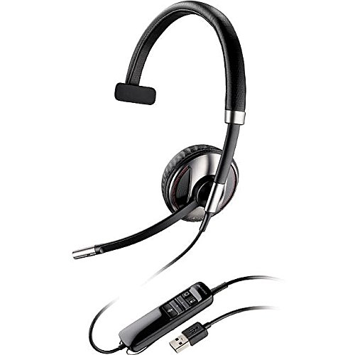 Plantronics Blackwire (87505-01) Monaural Bluetooth-Enabled Corded Usb Headsets Optimized For Microsoft Lync With Noise Canceling Microphone And Hi-Fi Stereo Sound