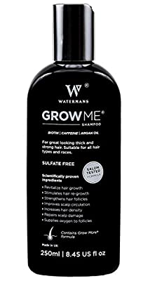 Best Hair Growth Shampoo Sulfate Free, Caffeine, Biotin, Argan Oil, Allantoin, Rosemary. Stimulates Hair Re-growth, Helps Stop Hair Loss, Grow Hair Fast, Best Hair Loss Treatment for Men and Women