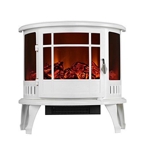 3G Plus Electric Free-Standing Fireplace Heater - White (White Gas Fireplace Ventless compare prices)