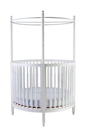 Dream On Me Sophia Posh Circular Crib, White