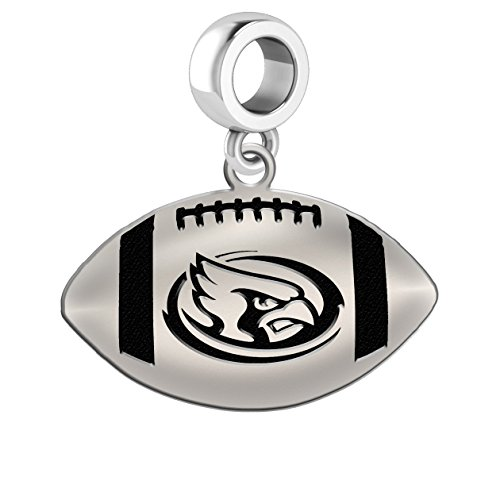 Iowa State Cyclones Sterling Silver Football Cut Out Drop Charm Fits All European Style Charm Bracelets