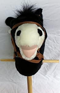 Black Hobby Horse on Stick