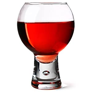 Alternato wine glasses 410ml pack of 6 red wine glasses short stem glasses bubble - Short stemmed wine glasses uk ...