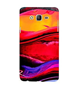 Multi colour Fluidic Design 3D Hard Polycarbonate Designer Back Case Cover for Samsung Galaxy On7 G600FY :: Samsung Galaxy On 7 (2015)