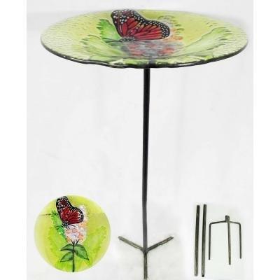 Butterfly Glass Bird Feeder