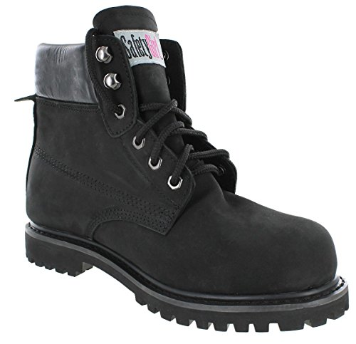 Safety Girl II Sheepskin Lined Womens Work Boots – Black Steel Toe