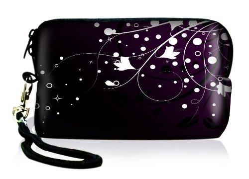 Outdoor Kameratasche/Schutzhülle für kleine Digitalkameras aus Neopren wasserabweisend und stoßabsorbierend shock proof mit Reissverschluss Kordel und Karabinerhaken. Von e-port24®.