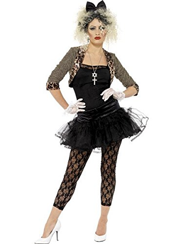 Smiffy's Women's 80S Wild Child Costume Jacket Top Tutu Leggings