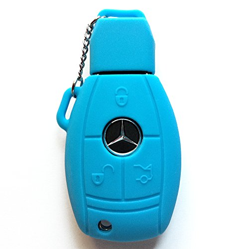 Mercedes Remote Cover - Light Blue