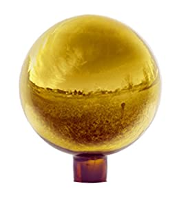Echo Valley 8104 10-Inch Glass Gazing Globe, Gold